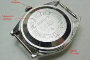วิธีดูเลขเครื่อง เลขตัวเรือน นาฬิกา SEIKO ที่ฝาหลังครับ